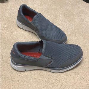 Grey slip on memory foam Skechers